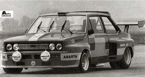 Fiat 131 Abarth-pianta