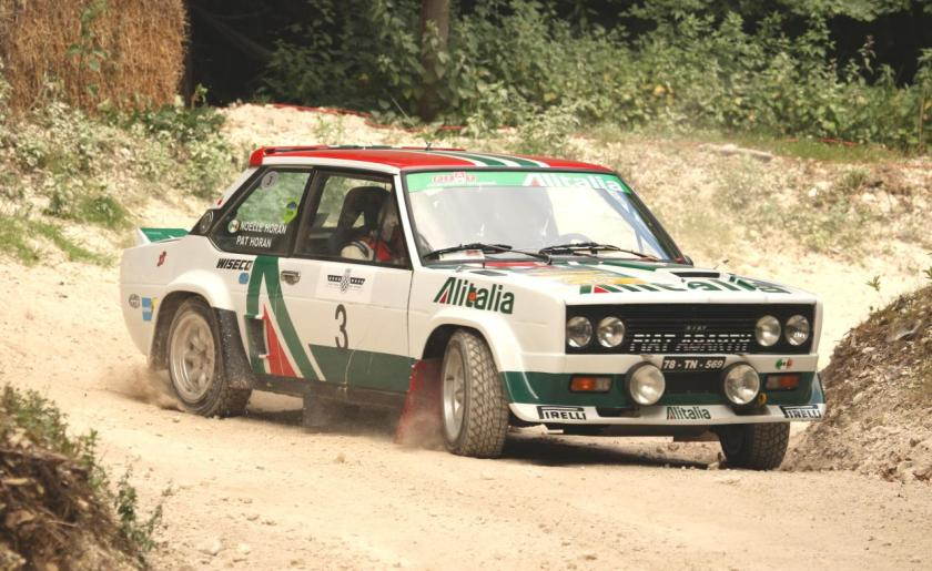 Fiat Abarth 131 rally car with Alitalia livery