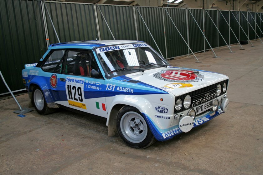 Fiat Abarth 131 rally car with Wreath Fiat livery