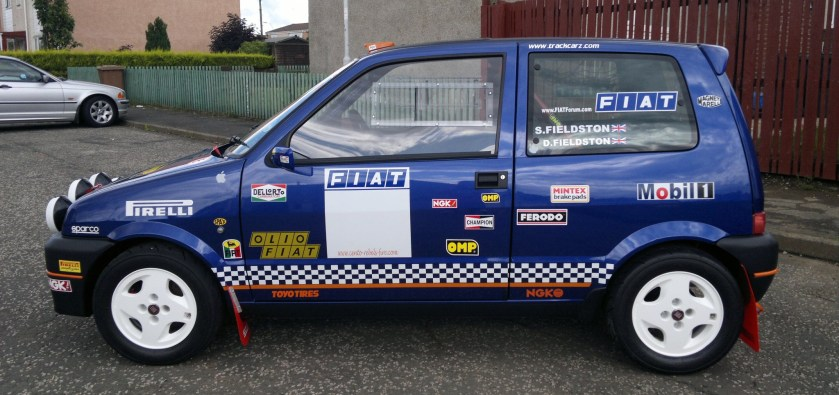 Fiat Cinquecento Sporting 1.1 Rally car b 1998