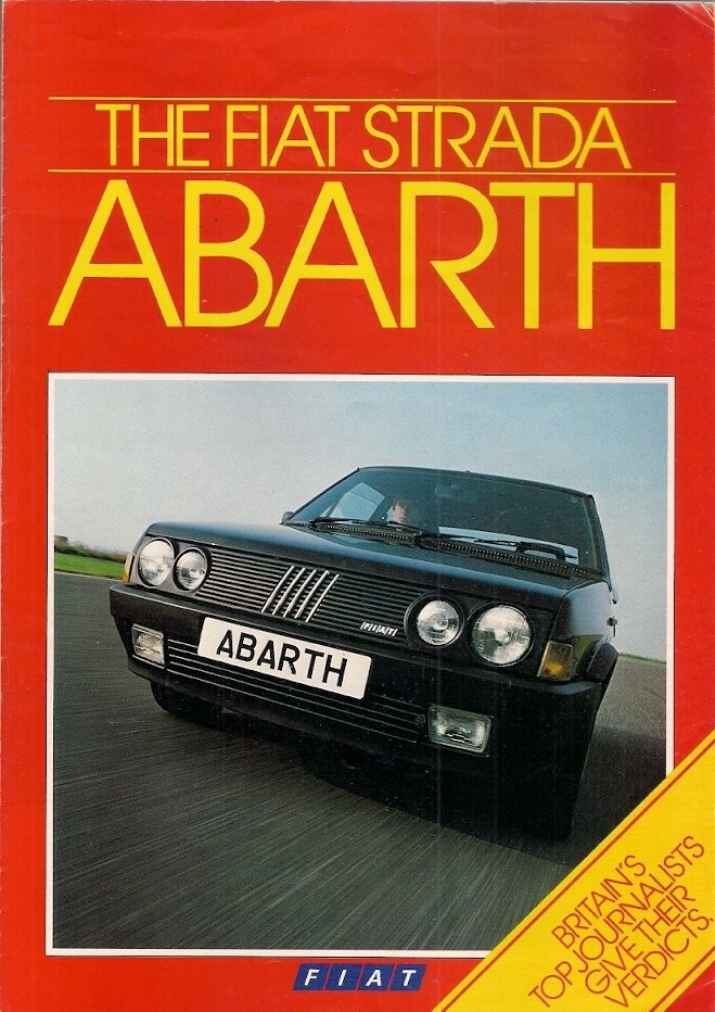 Fiat Ritmo Abarth 130TC Strada book b