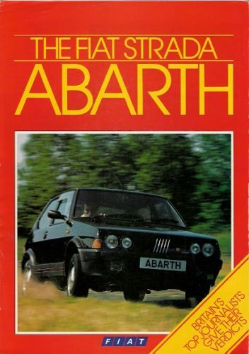 Fiat Ritmo Abarth 130TC Strada book