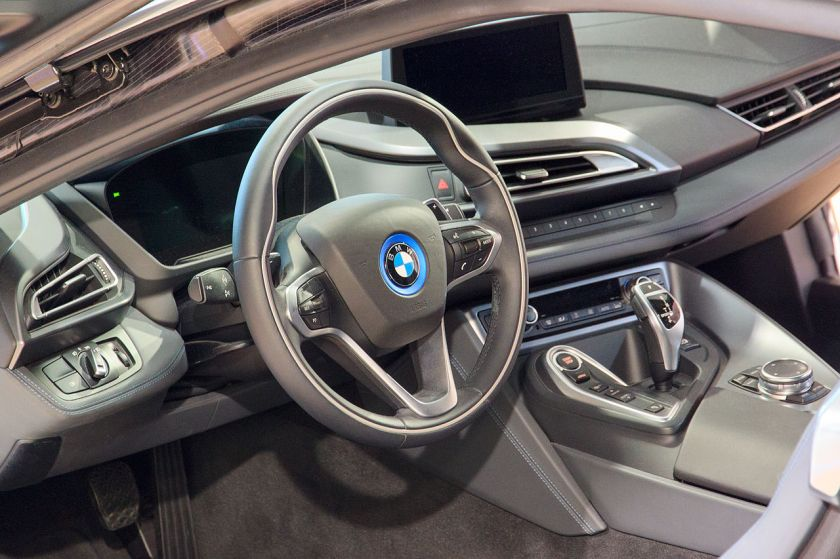 Munich-BMW-Welt-i8-Interior