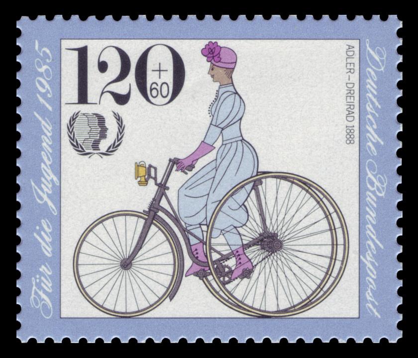 1888 Adler Dreirad DBP 1985 Jugend Adler Dreirad