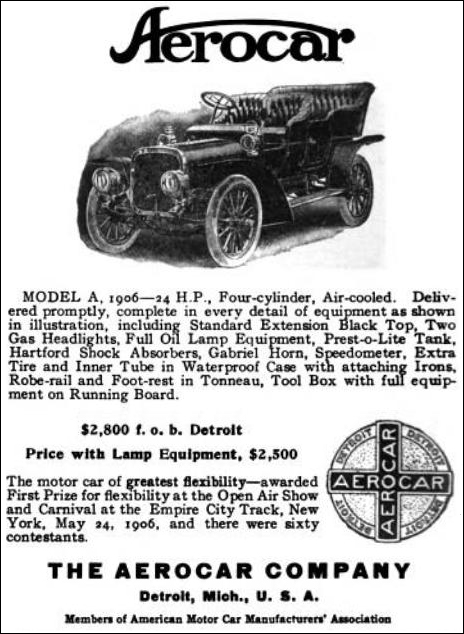 1906 The Aerocar Company - Detroit, Michigan