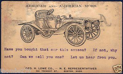 1907 Postcard AEROCAR Model C Runabout
