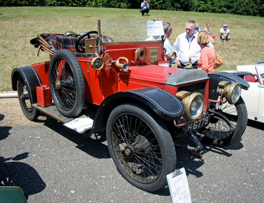 1909 Daimler 2-door coupé TB22 4cyl 3.568cc 22.8hp