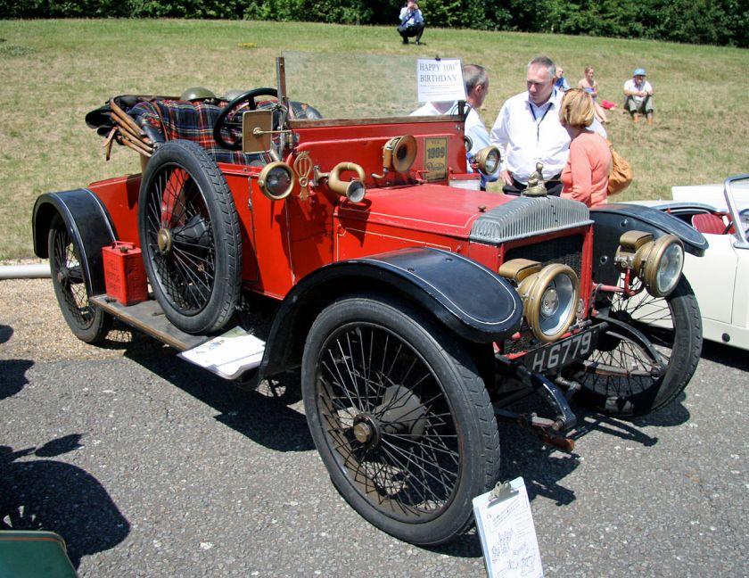 1909 Daimler 2-door coupé TB22 4cyl 3.568cc 22.8hp