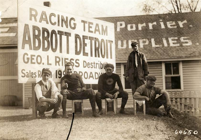 1910 Abbott Detroit team was headquarters at Porrier's Hotel in Garden City