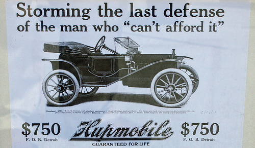 1911 Hupmobile Runabout ad