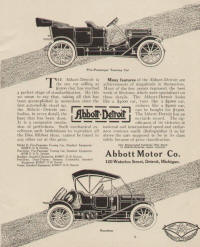 1912 Abbott-Detroit Detroit, Michigan Advertising 1912a