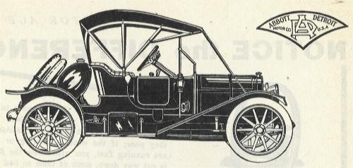 1912 Abbott-Detroit Two Passenger Roadster 1912