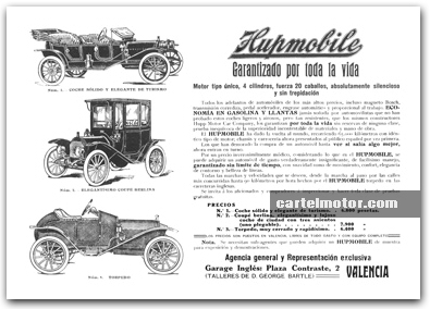1912 - HUPMOBILE ad in spain