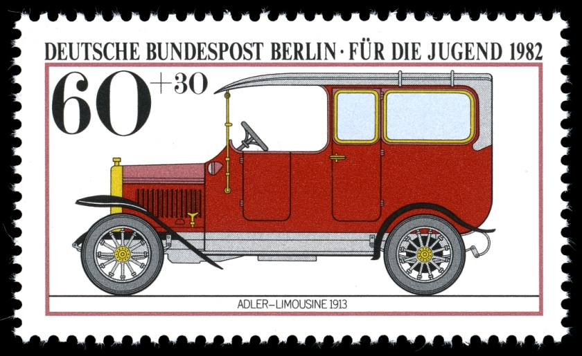 1913 Adler Car Stamps of Germany (Berlin)1982