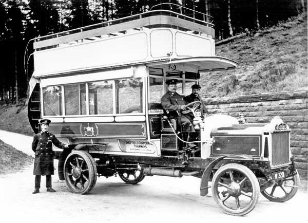 1913 DAIMLERSHEFFIELDFirstomnibustobeboughtbySheffieldTransport-DaimlerCC419DodsonOT1816R34-SeatDoubleDeckerBusW32011913SheffieldNo1