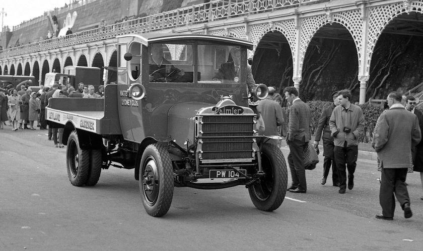 1915 Daimler Flatbed 3-ton Lorry PW104 Watts Lydney Glos