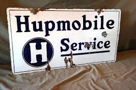 1915 Hupmobile Service Double sided Porcelain Sign