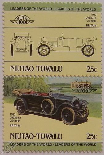 1920 CROSSLEY 25-30HP Car Stamps (Leaders of the World Auto 100)