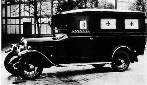 1930 Crossley J Type ambulance