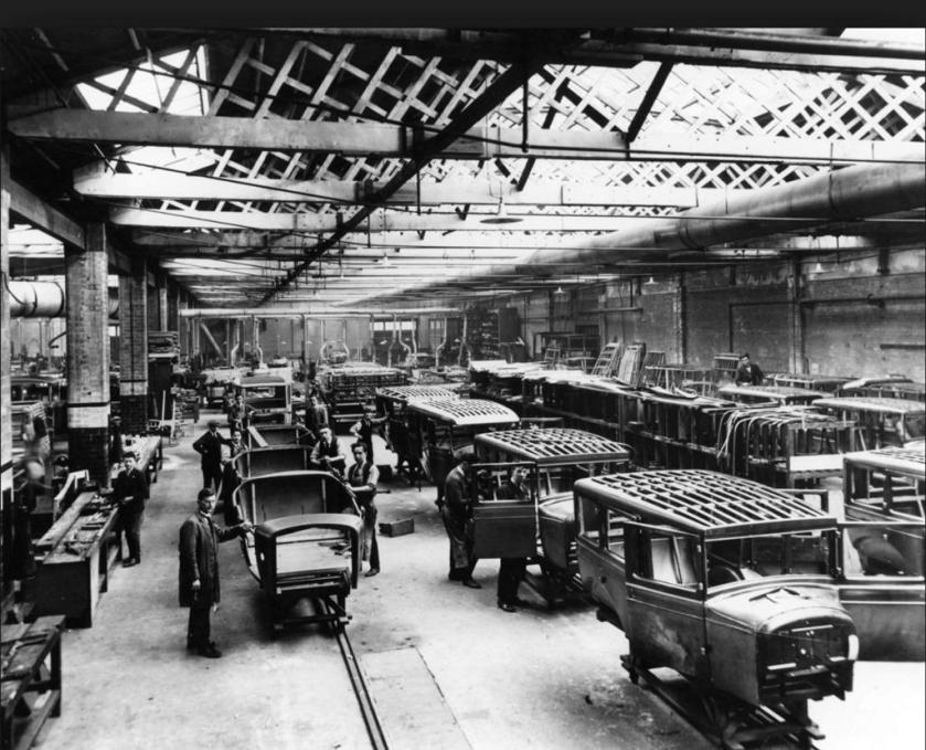 1930 Willys Overland Crossley plant, Heaton Chapel, Stockport, UK