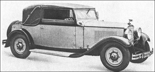 1931 Adler standard 6 cabrio buhne
