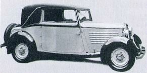 1932 Adler favorit cabrio