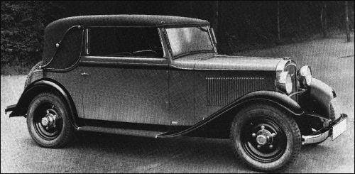1932 Adler primus cabrio karmann
