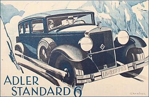 1932 Adler standard 6 Ad