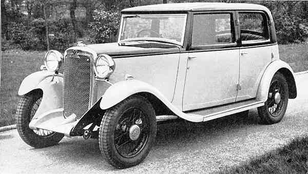 1932 Crossley 10hp torquay saloon