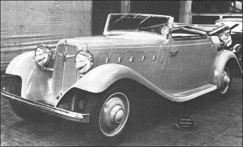 1933 Adler trumpf junior 4 seat cabriolet by Karmann