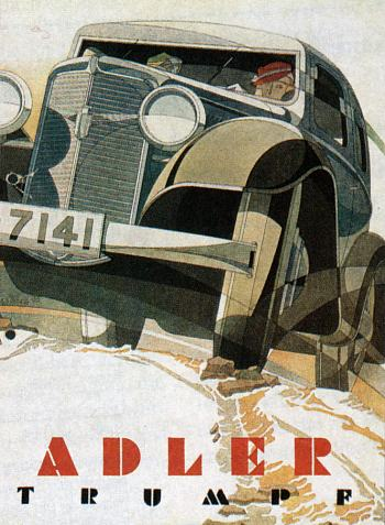 1933 Adler trumpf reklame