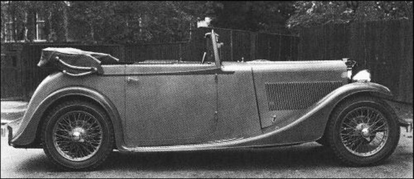 1934 AC Ace 16-56 Drophead Coupe cost £435