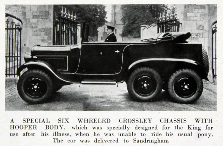 1935 Crossley 6 wheeled + hooper body