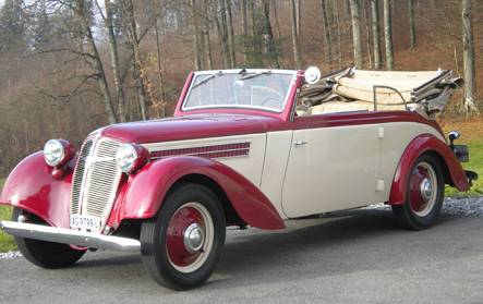 1936 Adler Trumpf 1-7-EV