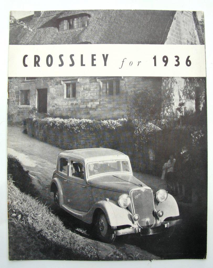 1936 CROSSLEY RANGE FOR 1936 - Car Sales Brochure - 1936