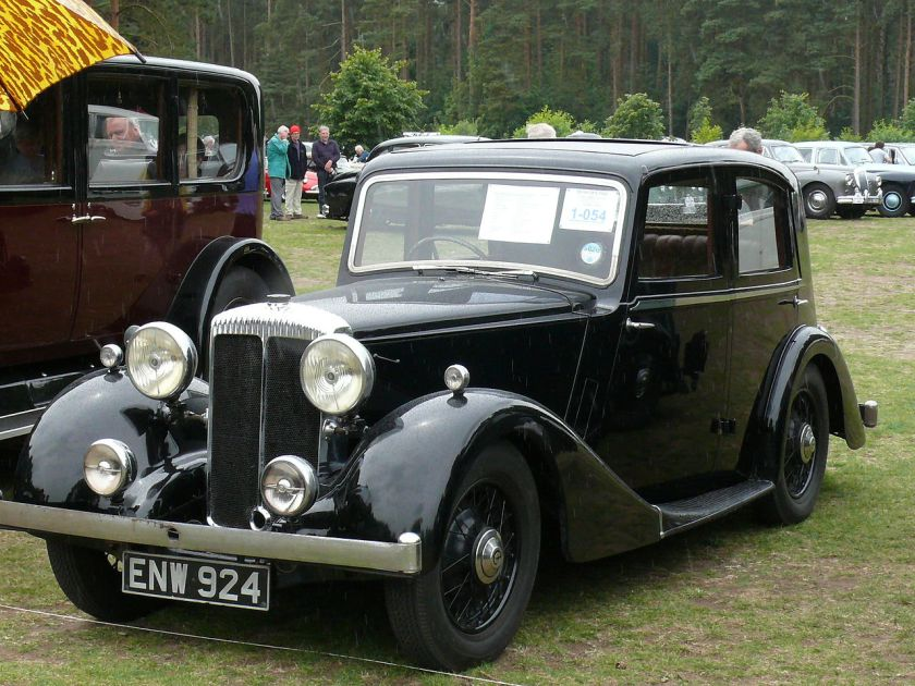 1936 Daimler Fifteen sports saloon 4-light 1 [ENW 924]