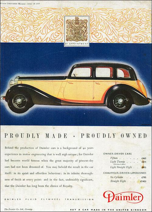 1937 Daimler Light Twenty Saloon