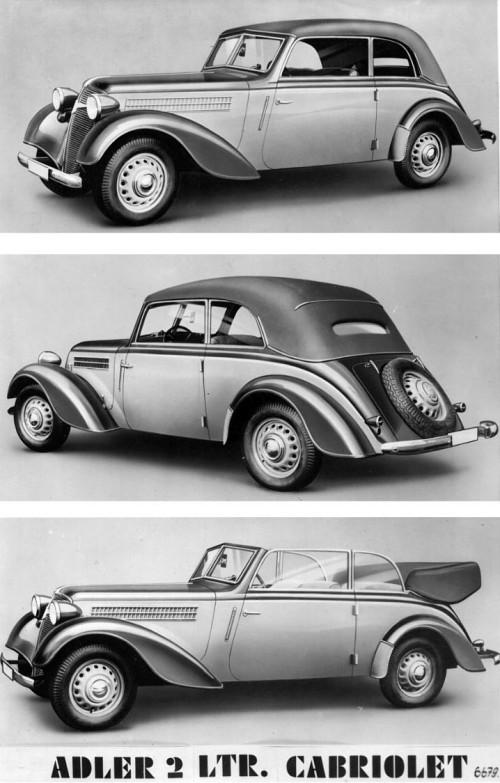 1938 Adler 1938 2,0 liter cabrio karmann