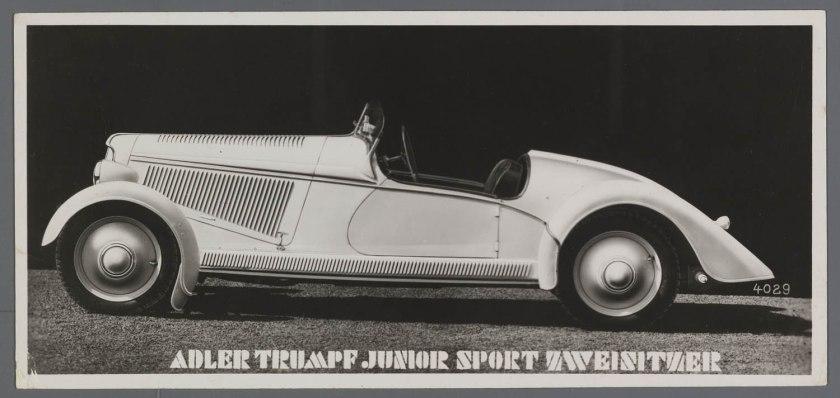 1939 Adler Junior Trumpf Sport 1ltr