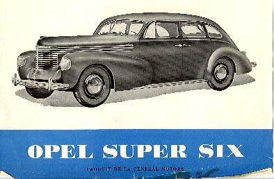 1939 opel super 6 a