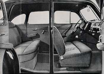 1939 opel super 6 interior