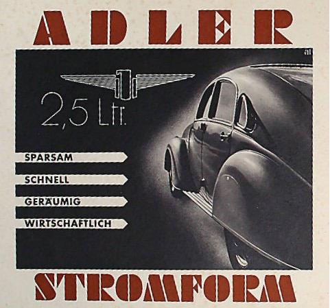 1940 Adler Stromform brochure