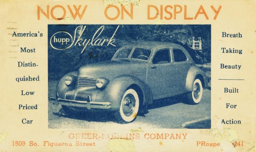 1940 Hupmobile Skylark Postcard-01