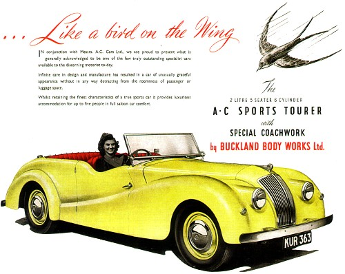 1949 AC Sports Tourer by Buckland
