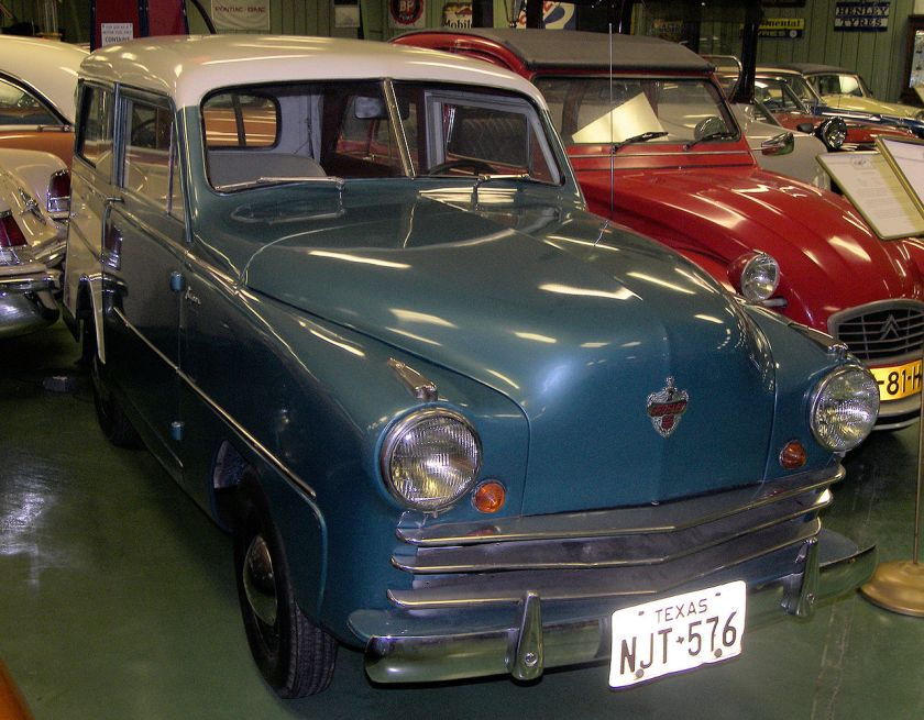 1950 Crosley station wagon on display at the Central Texas Museum of Automotive History