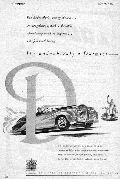 1950 Daimler db 18 special sport