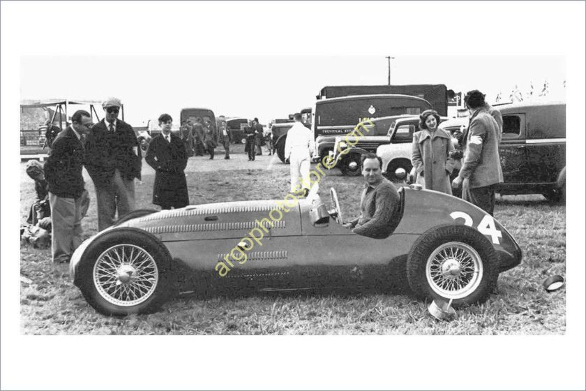 1950 mr213 MOTOR RACING 1950 Alta Crossley British GP motorsport car photo