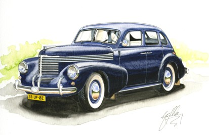 1950 Opel Kapitan Painting
