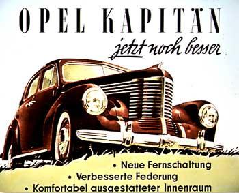 1950 opel kapitän advert