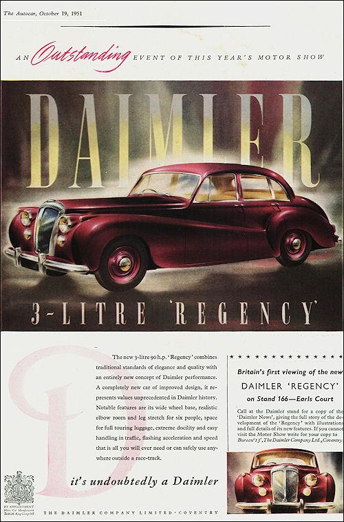 1951 Daimler 3-Litre Regency Saloon